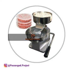 دستگاه همبرگر زن دستی صنعتی استیل