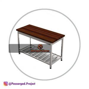 میز کار با رویه چوبی