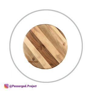 تخته سرو چوبی گرد قطر ۳۷ سانتیمتر