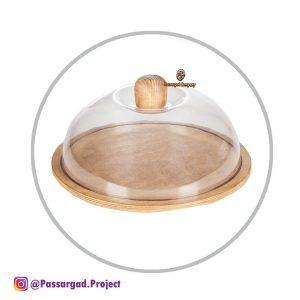 شو کیک چوبی با درب تلقی قطر ۳۵cm